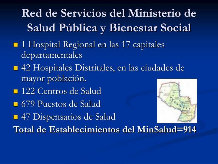 Red de servicios del ministerio de salud p blica y bienestar social