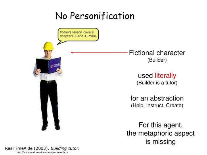 No Personification