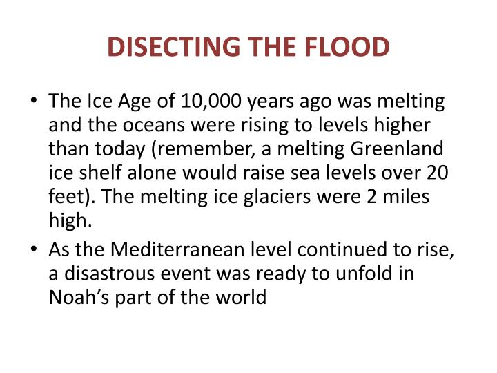 DISECTING THE FLOOD