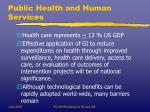 public health and human services
