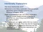 intentionality explanations
