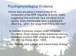 psychophysiological evidence