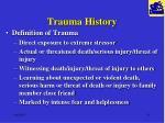 trauma history