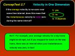conceptest 2 7 velocity in one dimension1