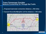 trans tennessee corridor network connectivity for through rail traffic