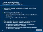 truck rail diversion diversion from truck highway