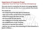 importance of corporate prayer adapted from sweet our prayer by john piper desiringgod org1
