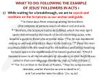 what to do following the example of jesus followers in acts 13