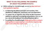 what to do following the example of jesus followers in acts 16