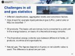 challenges in oil and gas statistics