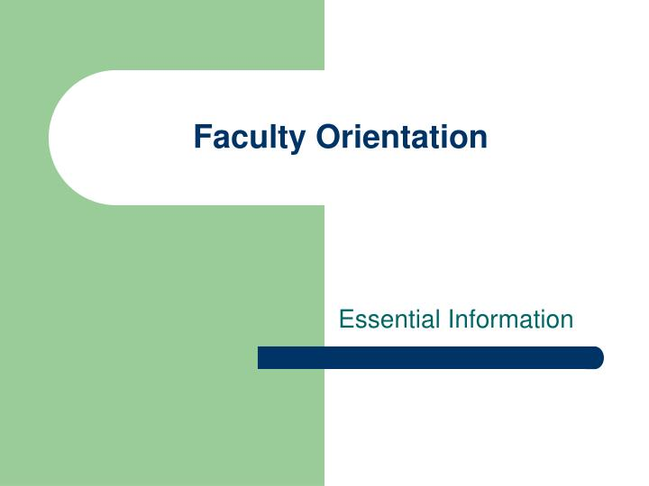 faculty orientation n.