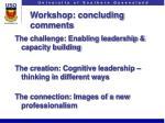 workshop concluding comments