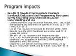 program impacts