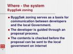 where the system byggs k zoning