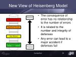 new view of heisenberg model