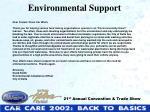 environmental support