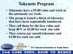tokenote program