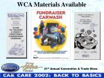 wca materials available