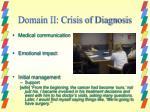 domain ii crisis of diagnosis