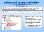 advanced query definition10