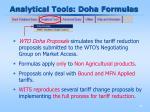 analytical tools doha formulas