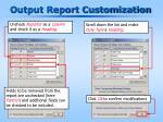 output report customization1