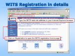 wits registration in details