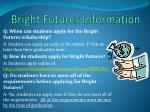 bright futures information