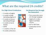 what are the required 24 credits