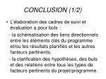conclusion 1 2