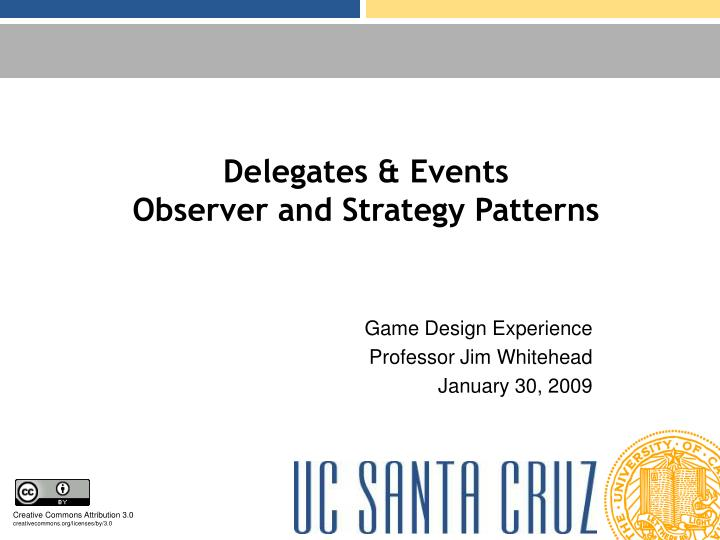 delegates events observer and strategy patterns n.
