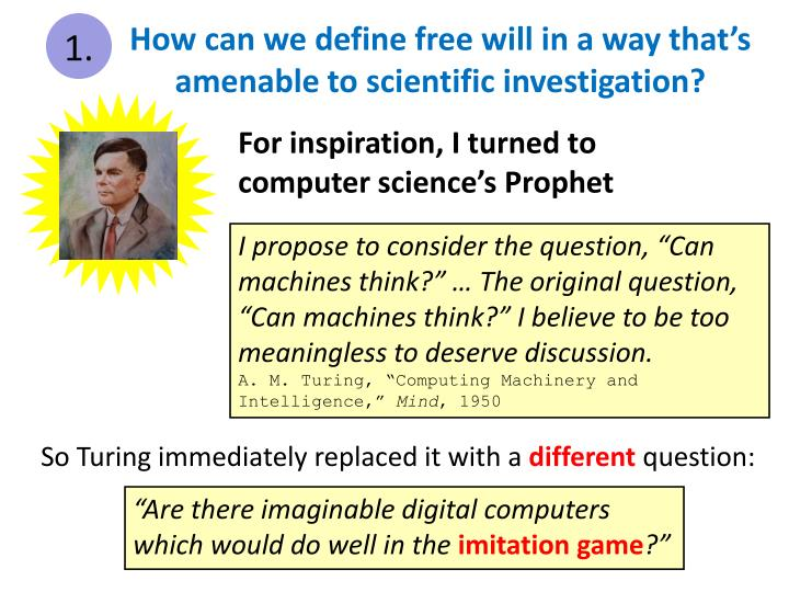How can we define free will in a way that's amenable to scientific investigation?