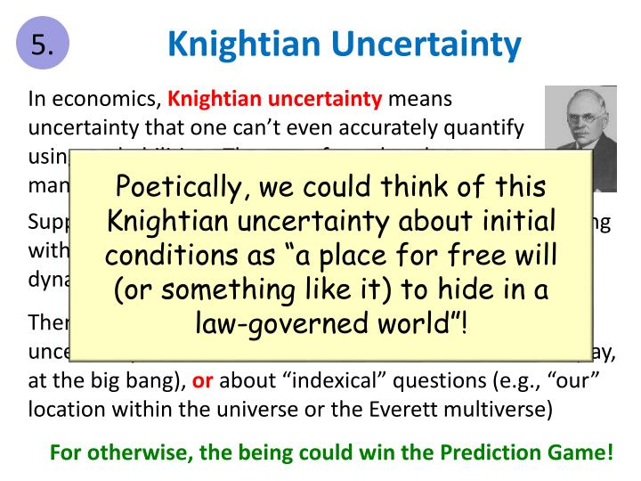 Knightian Uncertainty