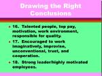 drawing the right conclusions10
