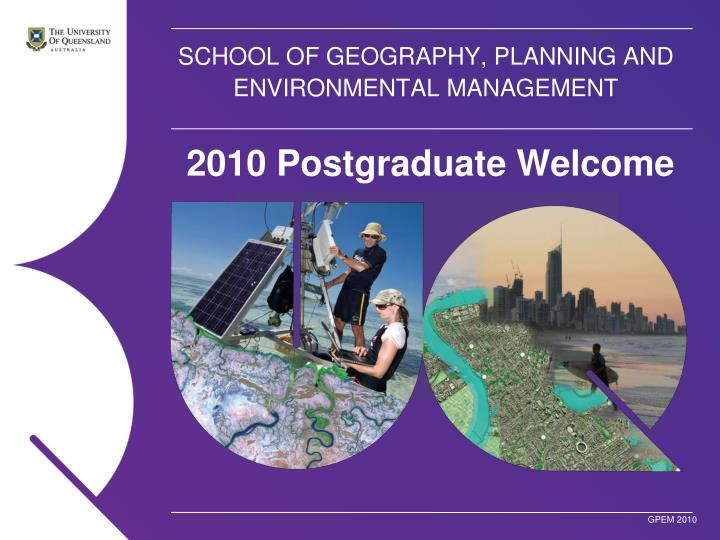 school of geography planning and environmental management n.