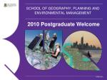 school of geography planning and environmental management