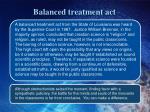 balanced treatment act