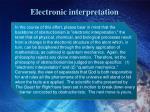 electronic interpretation