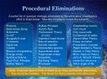 procedural eliminations