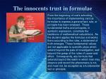 the innocents trust in formulae