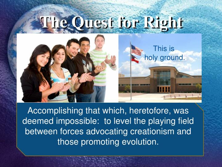 the quest for right n.