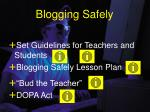 blogging safely
