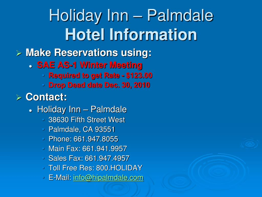 Holiday Inn – Palmdale