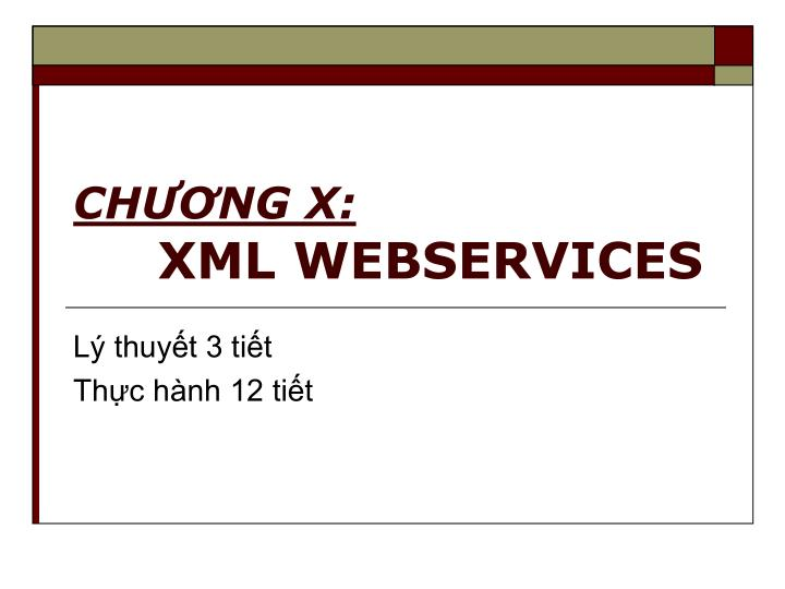 ch ng x xml webservices n.