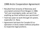 1988 arctic cooperation agreement