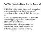do we need a new arctic treaty