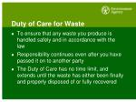 duty of care for waste