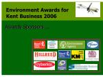 environment awards for kent business 2006