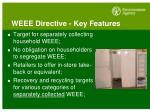 weee directive key features