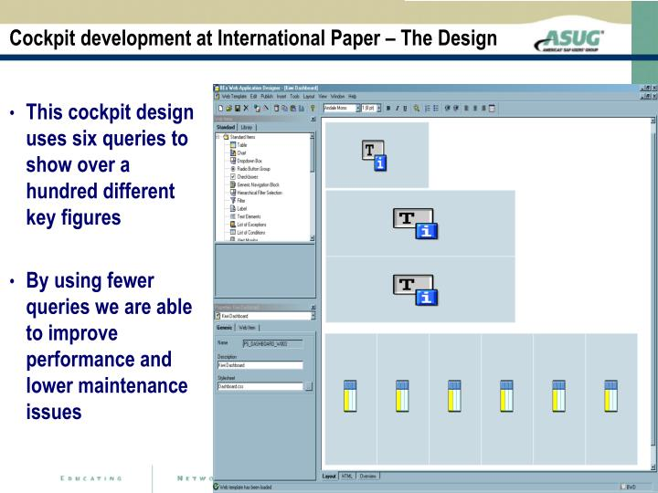 Cockpit development at International Paper – The Design